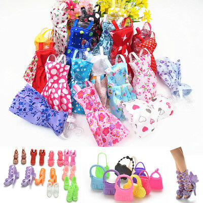 Hot Shoes Bag dress For Barbie Dolls Accessories Set for Barbie Toys Child Gifts