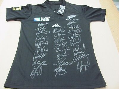 2015 New Zealand All Blacks World Cup Champions Signed Jersey/shirt