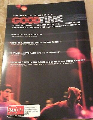 Promotional Movie Flyer For Good Time Stars Robert Pattinson NOT A DVD