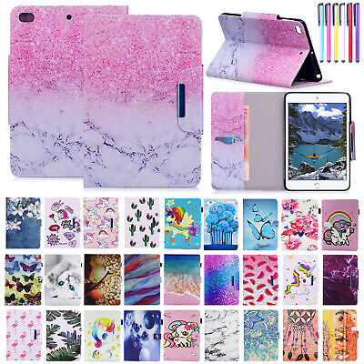 For iPad Mini/Air/9.7 2017 Smart Flip Case Card Slot Leather Stand Protect Cover