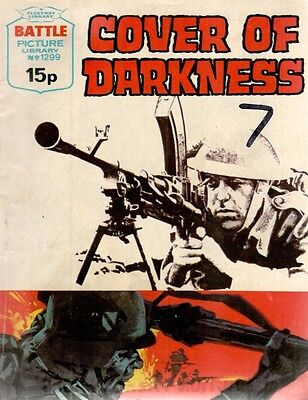 1979 No 1299  W33468  Battle Picture Library  COVER OF DARKNESS