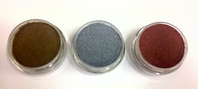 Embossing Powder 3 x 10ml Metallic set - Gold, Silver & Bronze DETAIL / FINE