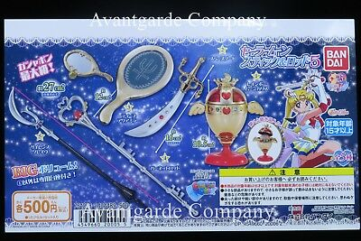 Bandai Sailor Moon, Compact Mirror Rod And Stick , Set Of 5 Gashapon 100% Real