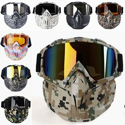 Tactical Airsoft Paintball Full Face Protection Skull Mask Army Outdoor Hunting