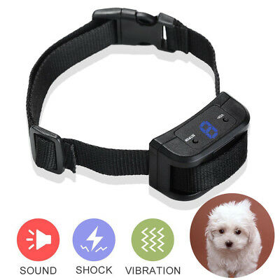 Dog Training Stop Barking Collar Electric Shock Pet Trainer Harmless E-collar