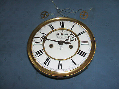vintage gustav becker medaille d'or clock movement & dial for spares or repair