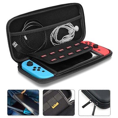Nintendo Switch Carry Bag Case EVA Hard Shell Game Console Protective Shell+Glas