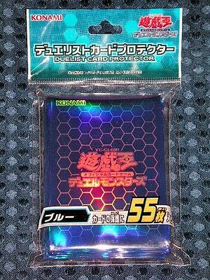 NEW Limited YuGiOh OCG Duelist Card Sleeve Protector BLUE 55pcs KONAMI JAPAN F/S