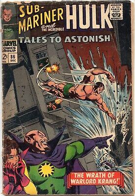 TALES to ASTONISH feat Sub-Mariner and Incredible Hulk #86 Silver Age .99 SALE