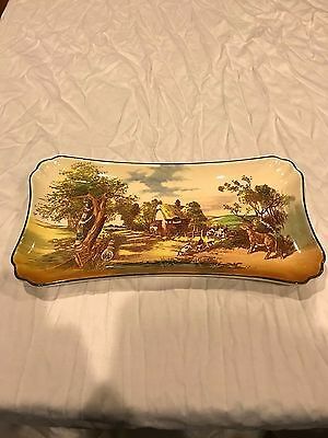 royal doulto large rectangler tray rustic england d5694