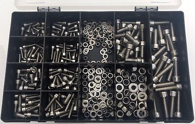 345Pc Assorted M4 M5 M6 Stainless Steel Allen Bolts Cap Head In Box