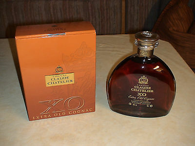 Extra Old Cognac Claude Chatelier X.O in Karaffe a.Glas,Inh.:0,70 l-40% Vol.,OVP
