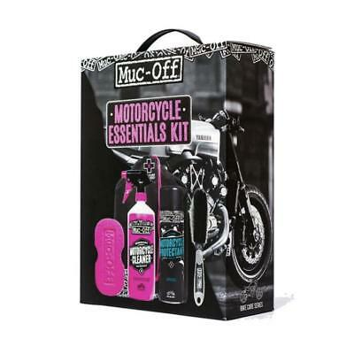 Muc-Off Motorcycle Essentials Kit 5 Piece Cleaning Care Kit Ideal Gift