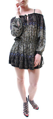36f59c8444a8 Free People Women s Multi Printed Romper Playsuit Brown Size XS RRP 87 BCF65