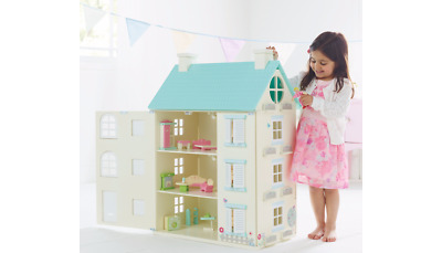 Childrens Electric Wooden Dollhouse Furniture Play Light Large Dolls House Girls