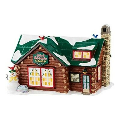 Original Polyresin and Ceramic Snow Village Girl Scouts Camp Lighted Building