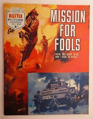 BATTLE PICTURE LIBRARY - MISSION FOR FOOLS - No. 262 - 15 August 1966