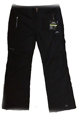 Trespass JOHNICA Mens Black Ski Trousers Pants Salopettes Size: XXL