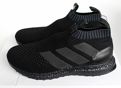 brand new 13552 3a8fa Adidas Ace 16+ Purecontrol Ultra Boost Triple Black BY9088 UK 5 7 8 9 10
