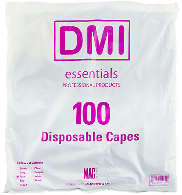 DMI Salon Professional 100 Pack Disposable Hair Dressing Shoulder Capes In PINK
