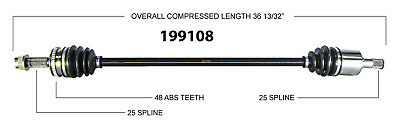 CV Axle Shaft-New Front Right WorldParts 199108