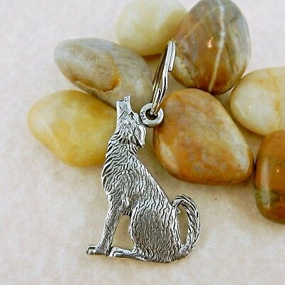 Pewter Coyote keychain Double sided made in USA