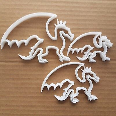 Dragon Wings Lizard Smaug Shape Cookie Cutter Dough Biscuit Pastry Fondant Sharp