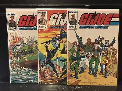 Lot of 3 GI Joe European Missions #1 2 4 (1988 Marvel) Combined Shipping Deal!