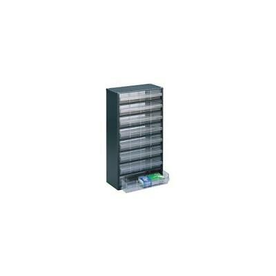 324234 , Storage Cabinet Clear 8 Drawer System Dark Grey , H555xW307xD150mm