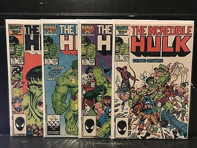 Lot of 4 Incredible Hulk #321 322 323 325 (1968 Marvel) Combined Shipping Deal!