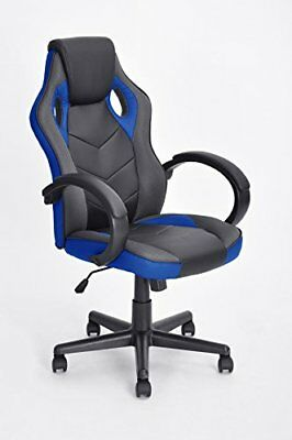 Executive Racing Style Office Chair PU Leather Swivel Computer Desk Seat High...