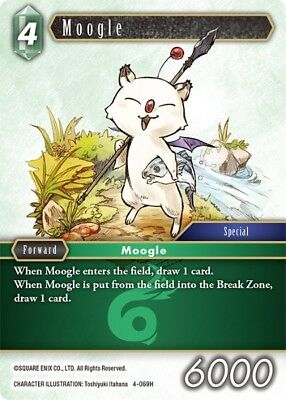 FOIL Moogle	-   4-069H	 - 	Hero   -NM-  Final Fantasy TCG  OPUS 4 IV
