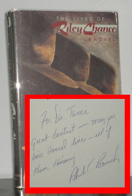 Robert Bausch - The Lives of Riley Chance - SIGNED 1st 1st - 1984 - NR
