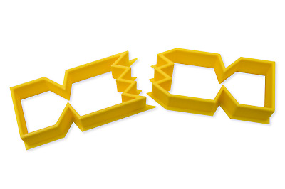 Christmas Cracker cookie cutter 2 piece set 3d print UK size choice fimo baking