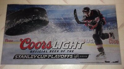 Coors Light Beer NHL Hockey Playoffs Welcome Mat Rug Made in the USA LAST ONE!