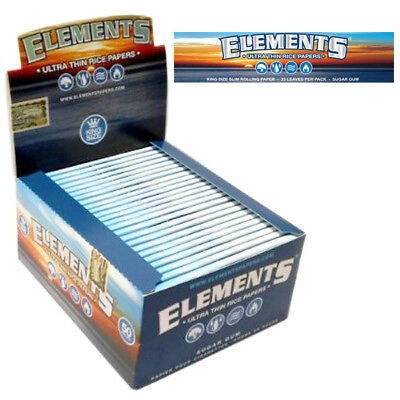Elements King Size Slim Rolling Papers - Full Box of 50 booklets