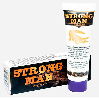 STRONG MAN Cream 50 ml Crema per Ingrandire ed Allungare il Pene Massaggiante