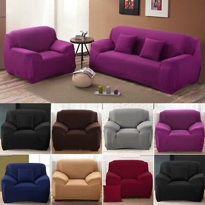 1/2/3/4 Seater Sofa Couch Slipcover Stretch Cover Elastic Fabric Protector Fit