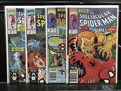 Lot of 4 Spectacular Spider-Man #172 173 174 175 (1976 Marvel) Shipping Deal!