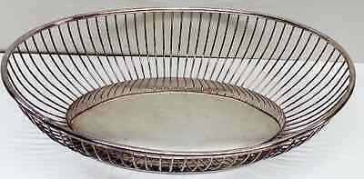 Gorham Silver Plate Wire Oval Basket Bowl YC743 Pattern