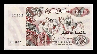 B-D-M Argelia Algeria 200 Dinars 1992 Pick 138 Second Sign SC UNC