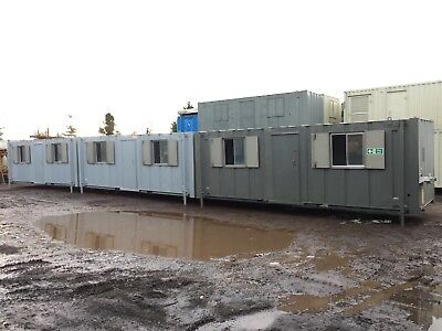 Portable Buildings Site Office Sections Modular Office 48ft - 72ft Anti Vandal