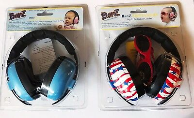 Baby Banz Infant Hearing Protection &  Baby banz infant blue 3 mo. bundle items.