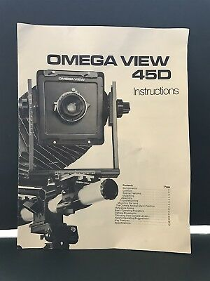 Omega View 45D Camera Instruction Book / Manual / User Guide