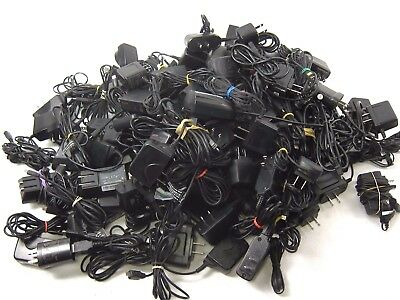 Genuine AC Adapters Lot of 117 Chargers Various Brands AC100 240V Sony LG Nokia