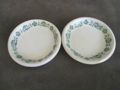 H8  John Maddock Adamant Hotel Ware Trianon Pair Butter Pats