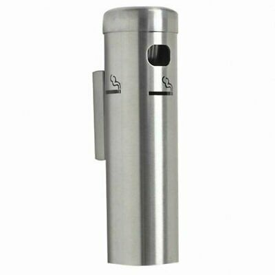 Aarco Aluminum Satin Silver Wall Mounted Cigarette / Ashtray Receptacle