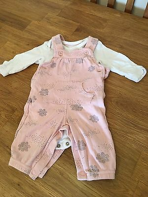 M&S Baby Girls 2 Piece Outfit 0/3 Months