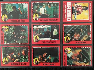 1985 Topps Rambo First Blood 2 Trading Card Set Complete