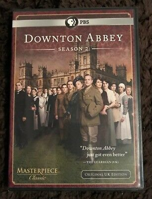 Downton Abbey: Season 2 (DVD, 2012, 3-Disc Set) NEW Free Shipping SEALED